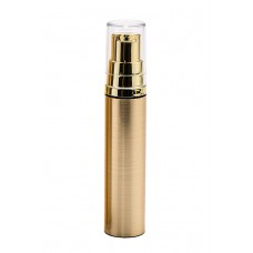 Airless bottle 10 ml, metalized - gold color