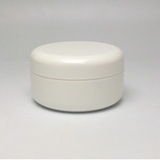 Cosmetic jar 100ml, double wall - white