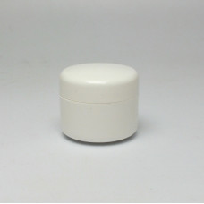 Cosmetic jar 10ml, double wall - white
