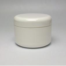 Cosmetic jar 150ml, double wall - white