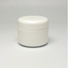 Cosmetic jar 30ml, double wall - white