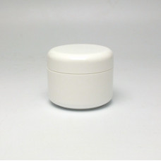 Cosmetic jar 50ml, double wall - white