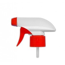 Trigger sprayer 28/410 – 258 mm (tube), white and red